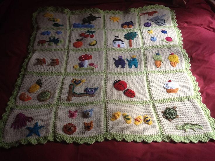 Manta de lana y ganchillo mantas ganchillo pinterest - Manta de bebe a ganchillo ...