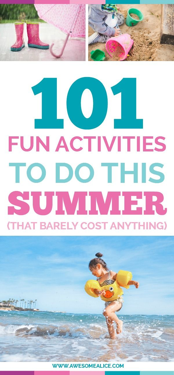 "Here's a list of 101 activities for when it's raining, adventures, outdoors, road trip and in the kitchen. Put these 101 activities on your summer bucket list and it will prevent your kids from being bored, and let them create memories that will last all the way to the first day of school when they're asked: ""What did you do this summer?"""