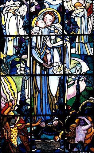 'THE VIRGIN zu küssen, ST Germain en Laye PRIORY', öl von Denis Maurice (1870-1943, France)