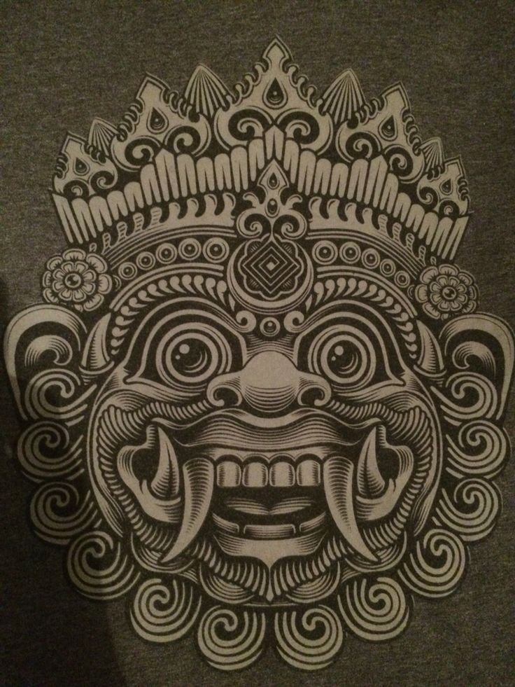 """Barong is a mythical creature and represents """"good"""". The barong protects the people against evil spirits and comes by the houses during Nyepi."""