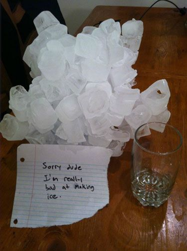 funny roommate note ice I should NOT be laughing as hard as I am at this.