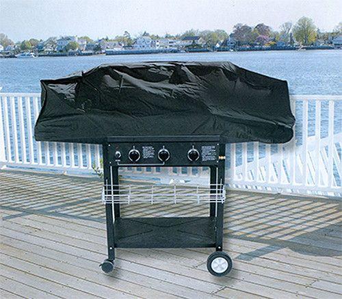 durable outdoor patio vinyl gas grill cover black