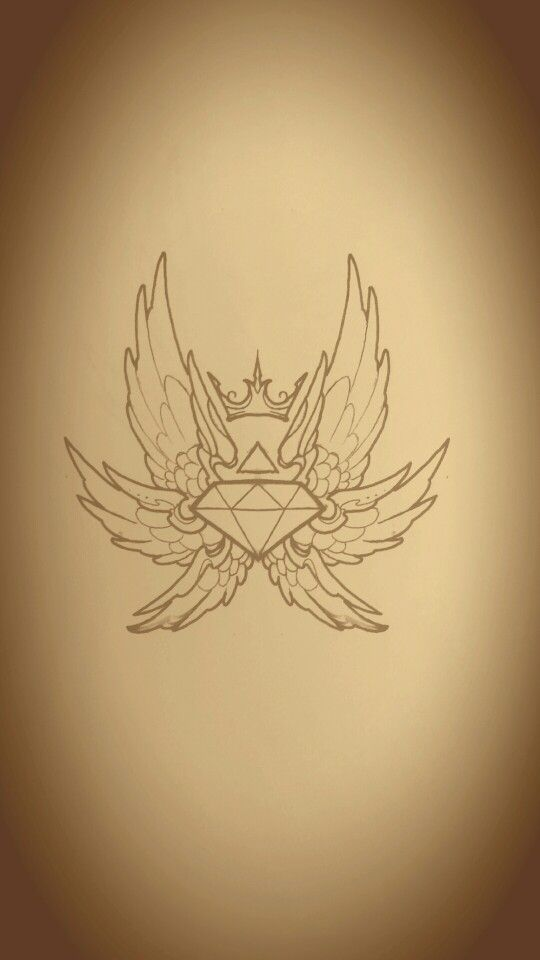 Diamond crown wings art