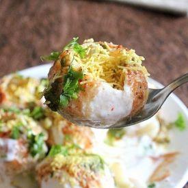 Dahi Puri Chaat - famous Indian street food