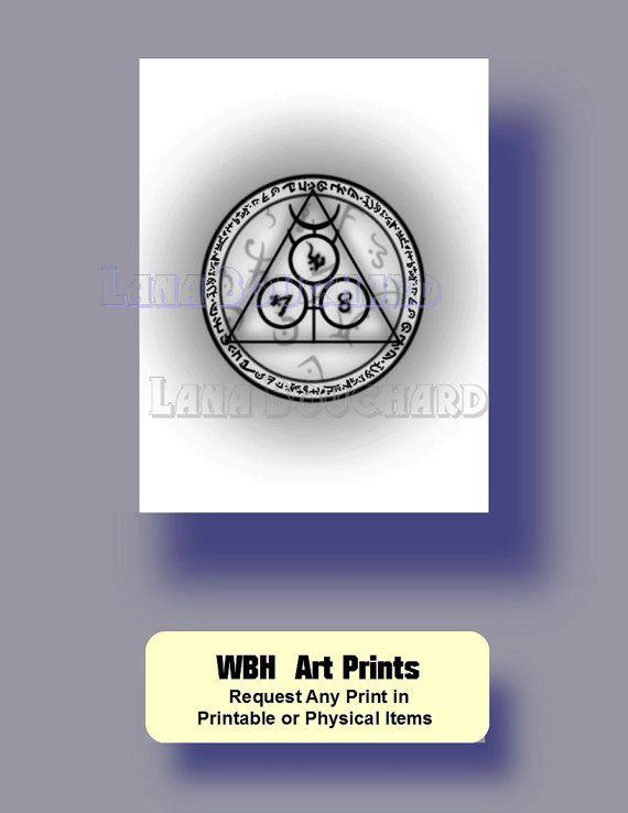 Watercolor digital print Arcane Circles by WeddingsBabiesHome