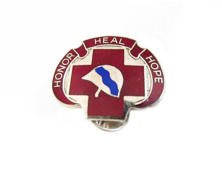 US Army Insignia Pin Honor Heal Hope 382 Surgical Hospital Army Motto Pin 382nd Army Medic Scarce Pin D21 by CollectionSelection on Etsy, SOLD