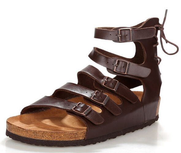 Summer hot sale Birkenstock Slippers men gladiator sandals cork sandals,39-46