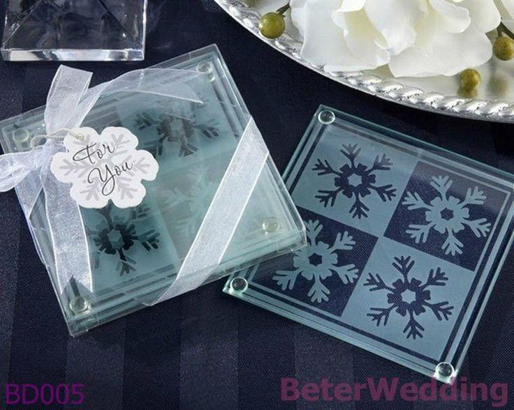 Aliexpress Buy 9set Free Shipping Snowflake Glass Coasters 18pcs Wedding Decoration And