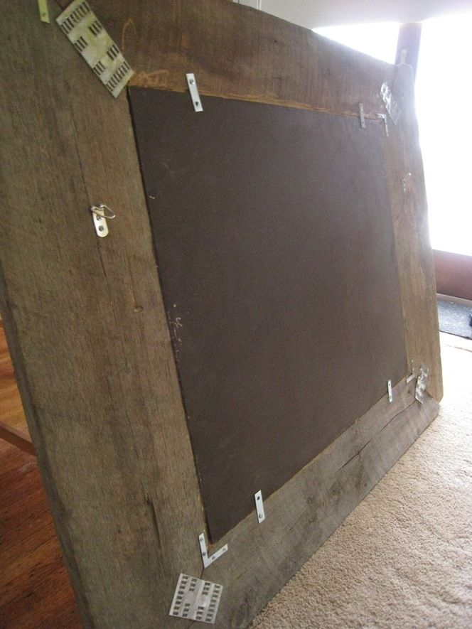 how to build a mirror from reclaimed barn wood
