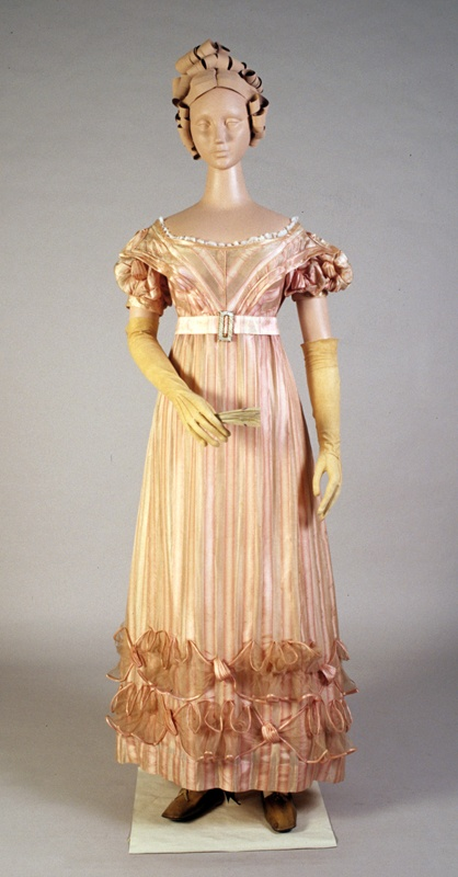 Evening dress, 1820s. (KSUM 1983.1.33): Dresses 1800 1830, Fashion 1800 1899, 1820S Fashion, Fashion 1800 1840, 1820 S Dresses, 1800 1840Ish, 1820 Fashion, Fashion 1820 1840, 1800 Dresses