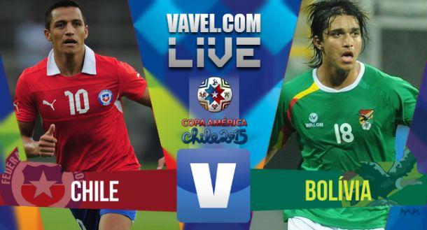 Chile x Bolívia ao vivo online minuto a minuto pela Copa América 2015
