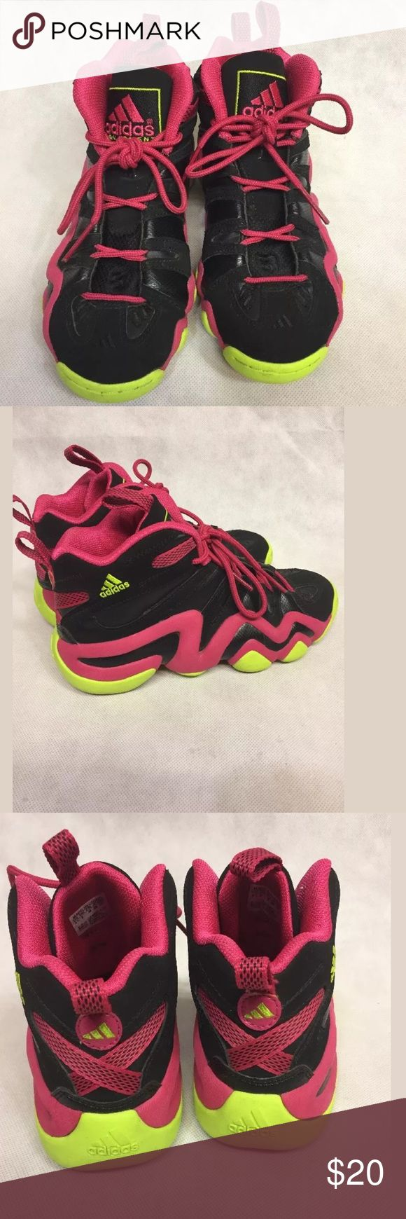 👟👟ADIDAS CRAZY 8 RETRO KOBE BRYANT Sneakers ADIDAS CRAZY 8 RETRO KOBE BRYANT BASKETBALL SHOES MOTHER'S DAY SIZE US 5 1/2 Neon yellow and hot pink Pre owned good Condition Without box. 🚫trades Adidas Shoes Sneakers