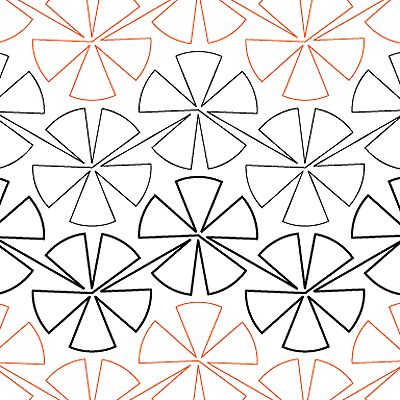 Pinwheel #4 - Digital - Quilts Complete - Continuous Line Quilting Patterns