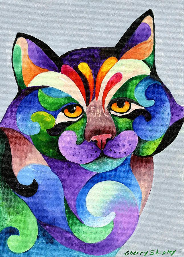 Color Me Smug Painting by Sherry Shipley - Color Me Smug Fine Art Prints and Posters for Sale