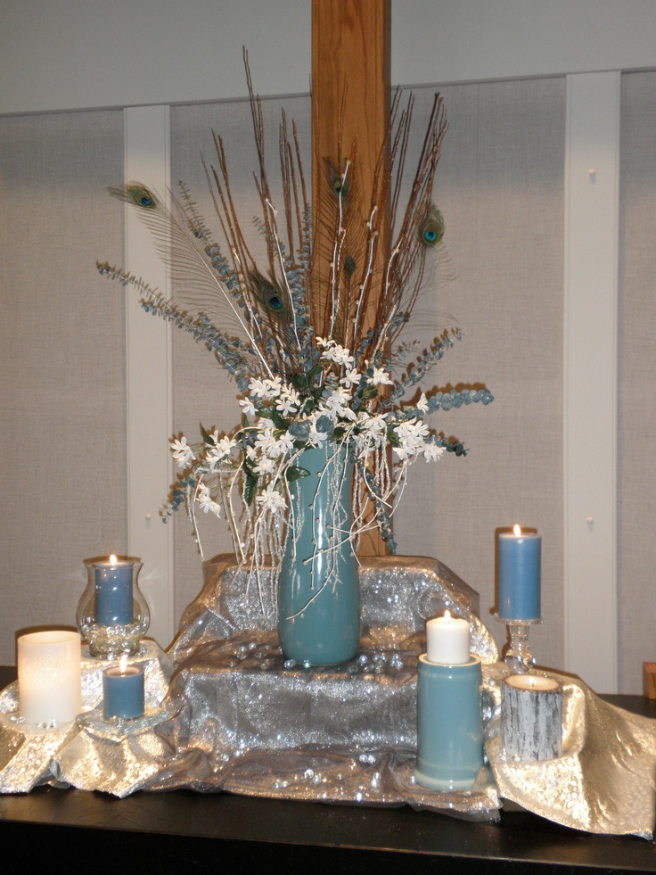 Pin altar church decoration winter wedding on pinterest for Altar decoration ideas