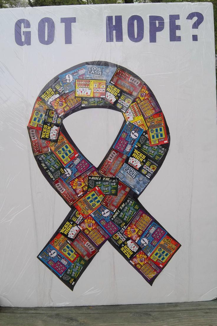 Fundrasing:  our ever popular lottery ticket board raffel