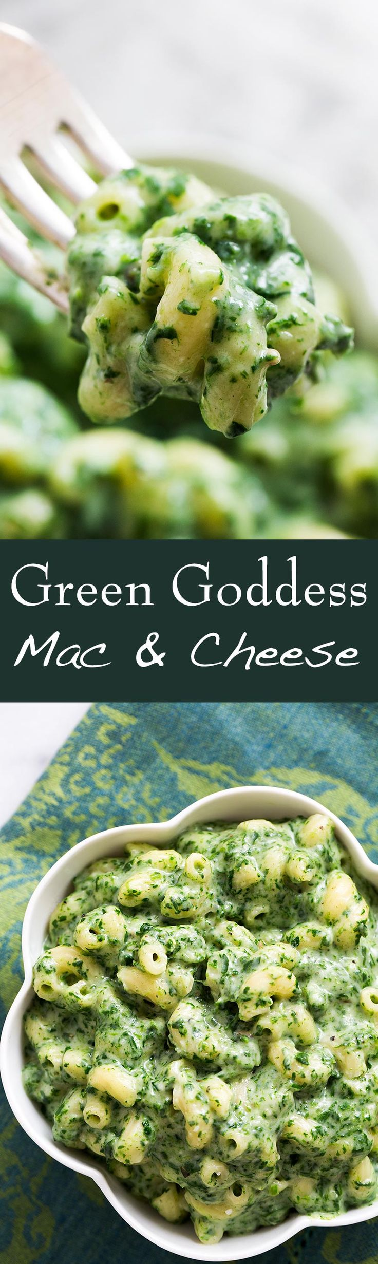 Green Goddess Mac and Cheese ~ Get your power greens in this macaroni cheese! With loads of baby spinach, parsley, garlic, white sharp cheddar, Parmesan, and macaroni pasta. ~ SimplyRecipes.com