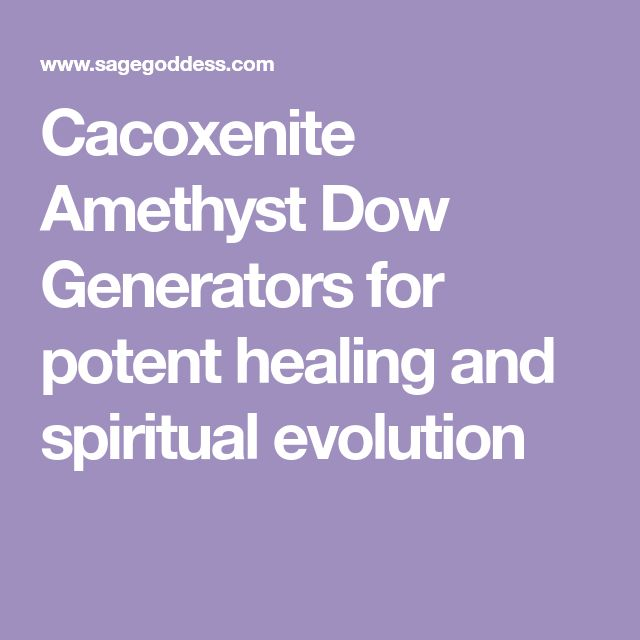Cacoxenite Amethyst Dow Generators for potent healing and spiritual evolution