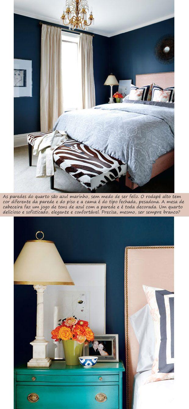 decoração de quarto azul marinho