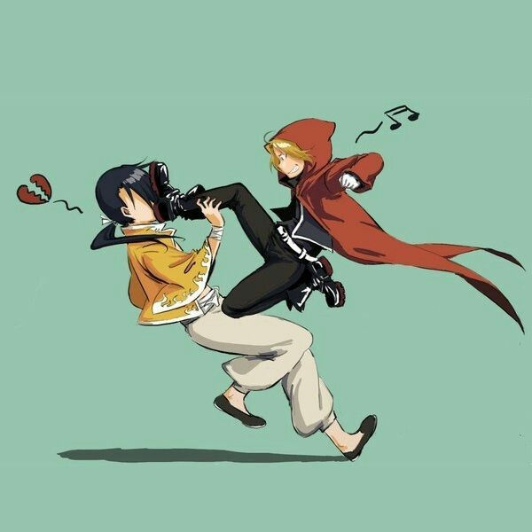 This sums up their friendship pretty well :) Ed & Ling- FMA
