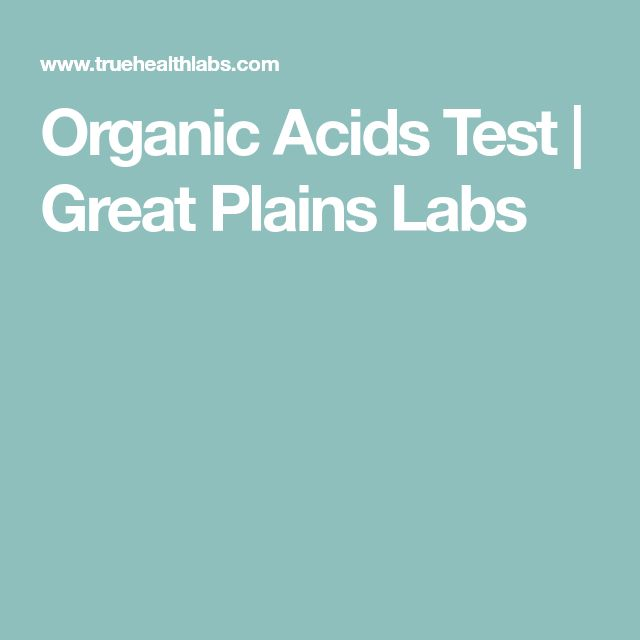 Organic Acids Test | Great Plains Labs