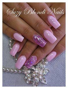 acryl nagels roze - Google Search