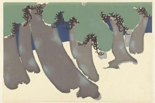 Pine Grove. Kamisaka Sekka. Japan. 1909. From the collection of Rijksmuseum