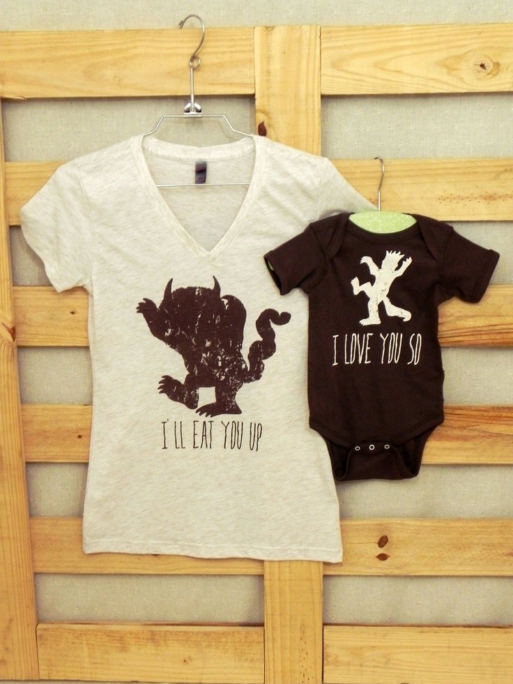Mommy and Me Shirt Set: Where the Wild Things Are. $20.00, via Etsy.