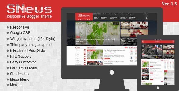 News Magazine Responsive Blogger Theme free download, free wordpress themes, wp…