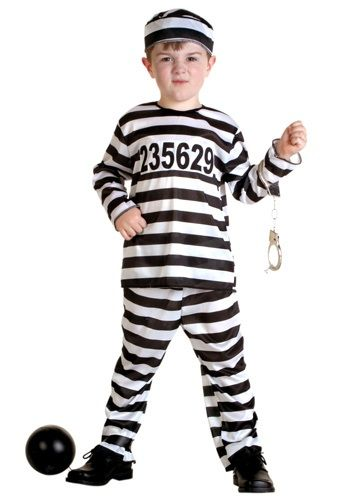 He is breaking out of the pen! This Toddler Prisoner Costume is perfect for little trouble makers.