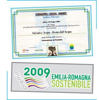 I riconoscimenti di Adriatica Acque. #riconoscimenti #SodalitasSocialAward #InnovazioniProdotto #EmiliaRomagnaSostenibile