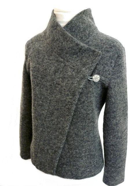 wool coat, interesting pattern