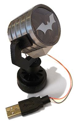 Mini USB Batman Spotlight. I want the bat signal in my office!!!