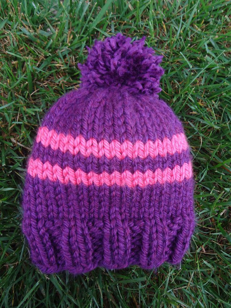Fiber Flux...Adventures in Stitching: Free Knitting Pattern! Preschooler Rugby Hat