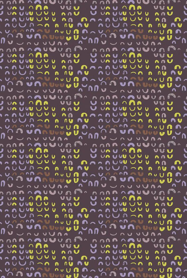 Lucienne Day  Magnetic - Brown