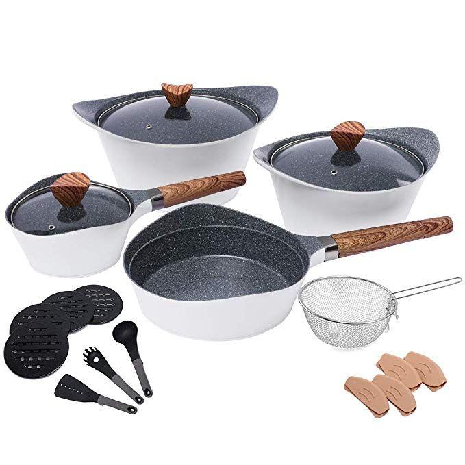 Amazon Com Nonstick Cookware Sets Dishwasher Safe Die Casting