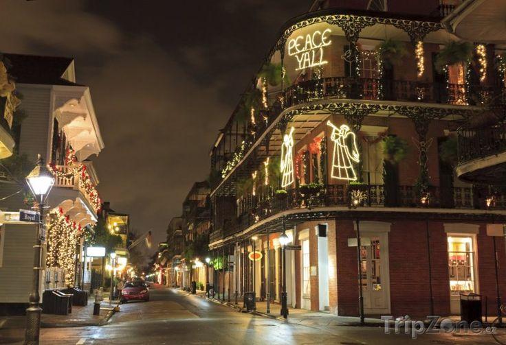 Fotka, Foto Francouzská čtvrť, vánoční výzdoba (New Orleans, USA)