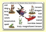 'Room on the Broom' Word Mat