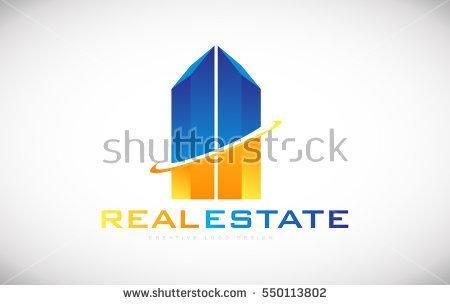 Skyscraper building real estate realtor vector logo icon sign design template