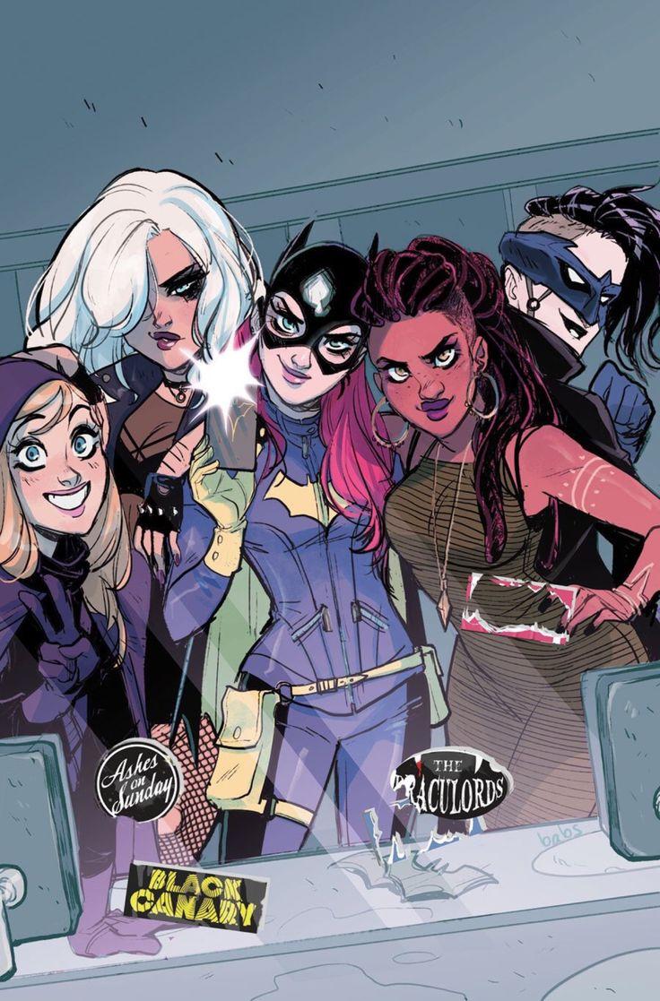 (Batgirl of Burnside) Spoiler, Black Canary, Batgirl, Frankie Charles and Nightwing