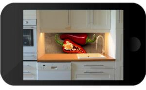 Vorschauservice für Ihre neue Küchenrückwand - Foto von Ihrer Küche senden, Motiv auswählen - wir erstellen Ihnen ein Vorschaubild von Ihrer neuen Kücherückwand - www.nischenverkleidung.tidis.de