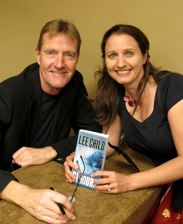 Thriller author J.F.Penn with Lee Child at Thrillerfest 2012 in New York