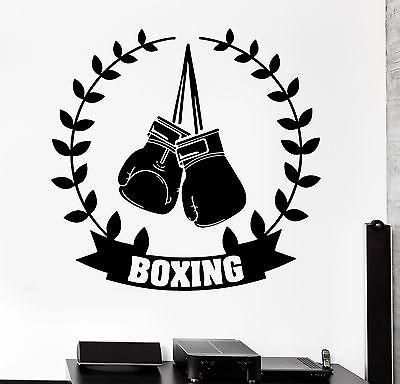 Wall Sticker Sport Boxing Gloves Box Champion Martial Arts Vinyl Decal Unique Gift (z2976)