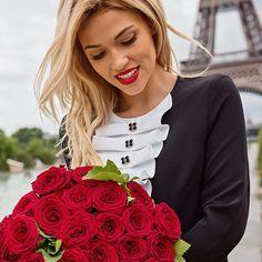 «Love in Paris❤️ Черно-белое платье LOVE REPUBLIC с жабо идеально подходит для бизнеса и романтических встреч!»