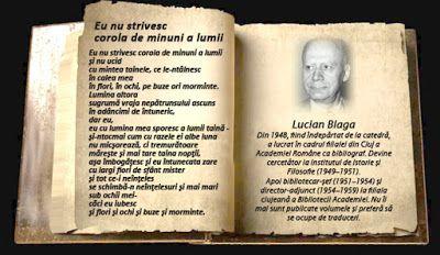 Moara lui Gelu: Lumea Poeziei - Lucian Blaga