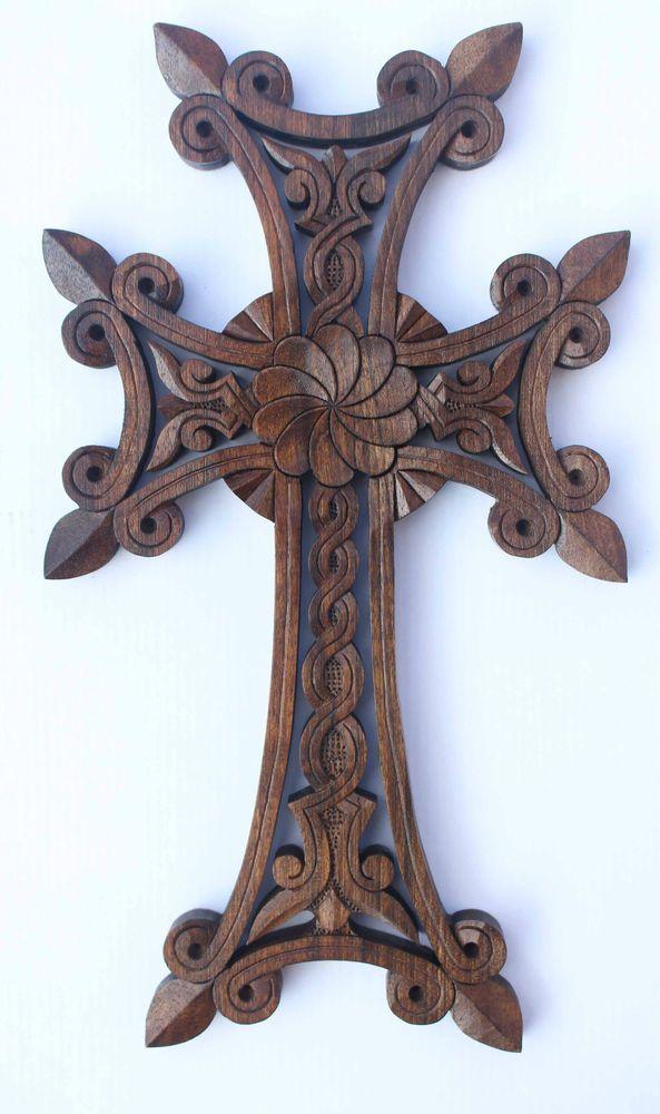 Wooden Cross Armenian Christianity For Wall Pendant Infinity gift wood art !!!