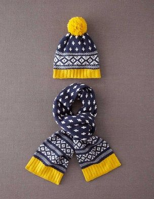 I've spotted this @BodenClothing Bobble Hat & Scarf Set Blue Fair Isle