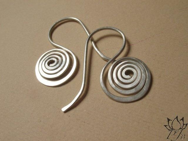 silver spiral earrings Padma Jewels Bazaar
