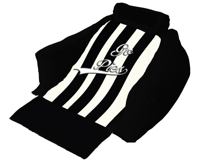 Good old Collingwood Forever! Sit back relax and watch the game in the comfort of your own home, on your customised Wedg-eze Support Lounger.  #GoMagpies #AFL #Wedgeze