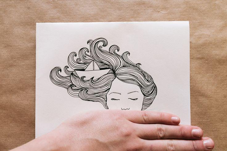 Paperboat | Illustration by Charlota Blunarova | charlotablunarova.com